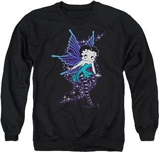 Betty Boop Cartoon Sparkle Fairy Adult Crewneck Sweatshirt