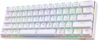 Redragon K630 Dragonborn 60% Wired RGB Gaming Keyboard, 61 Keys Compact Mechanical Keyboard with Tactile Blue Switch, Pro ...
