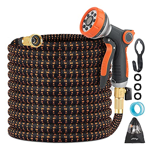 Expandable Garden Hose - 50ft Flexible Water Hose with...