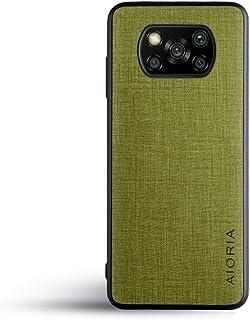 人気の新商品Xiaomi Poco X3 NFCケース スマホケース高級完全に保護 Poco X3 Pro ケース (Poco X3 NFC, Green)