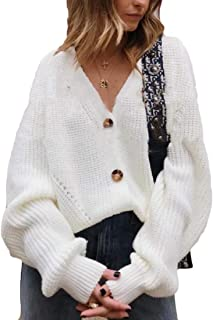 Women Button Down Cardigan Sweaters Loose Casual Knit Outwear