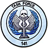 TASK FORCE 141 Army Military Logo Tab Jacket Uniform Patch Sew Iron on Embroidered Applique Sign Badge Costume