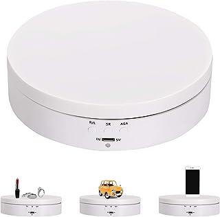 Spolehli Electric Rotating Display Motorized Turntable Display Rotating Display Stand 360 degree 5.43in 4.4lb Capacity Di...