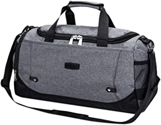 Wultia - Large Capacity Fashion Travel Bag for Man Women Weekend Bag Big Capacity Bag Travel Carry on Luggage Bags Overnight #G8 Gray