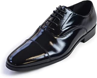 タキシードステーション 革靴 メンズ ブラック【販売】フォーマルシューズ ビジネスシューズ 4cmヒール ストレートチップ 紐靴 冠婚葬祭 結婚式 お葬式 お父様モーニング リクルート 就活 父の日 ギフト