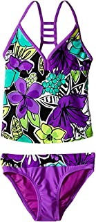 ZeroXposur Girls' Hula Haku Tankini Two Piece Swimsuit