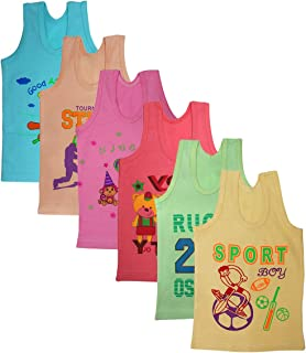 FABZONE Set of 6 Cotton Vest and for Kids Boy's Inner Summer wear Daily use & Gift for Kids