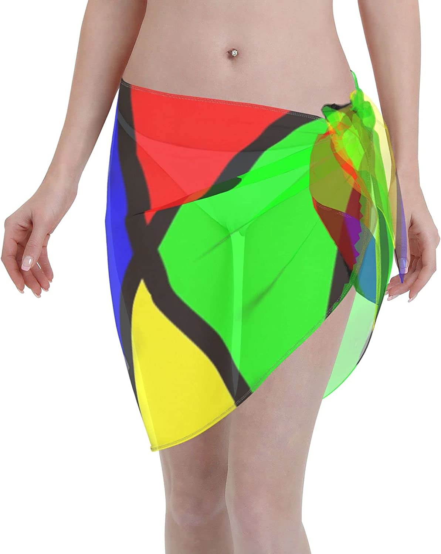 2053 pants Harlequin Design Women Chiffon Beach Cover ups Beach Swimsuit Wrap Skirt wrap Bathing Suits for Women
