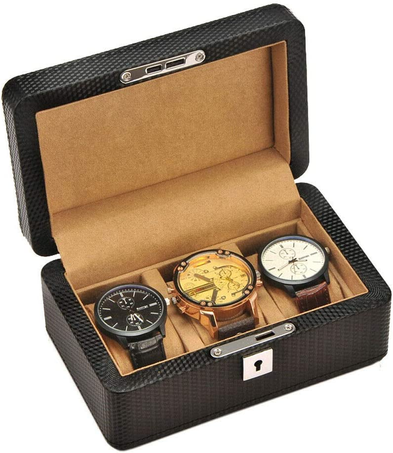 3 Grid Slots Wood Box Watch Case Long-awaited Detroit Mall D Vintage Wooden Display