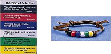 Plan of Salvation Pocketcard With Beaded Bracelet, 1 Count
