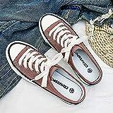 N\C Zapatos de lona para hombre con parte superior baja y media de arrastre, zapatos de moda, zapatillas de deporte para mujer 43 / pasta de frijol rojo