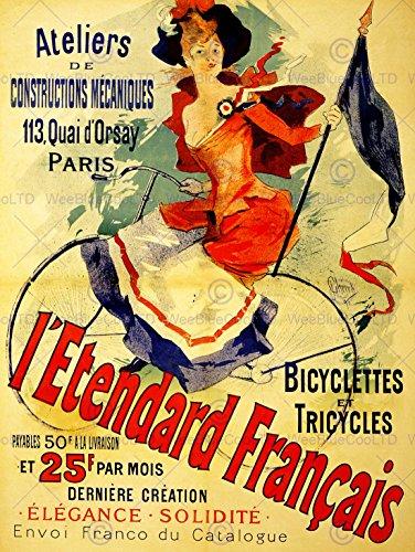 Wee Blue Coo LTD Advertising Transport Bicycle Standard French Paris France New FINE Art Print Poster Picture 30x40 CMS Werbung Fahrrad Französisch Frankreich Kunstdruck Bild