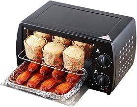 XKUN Multifuncional Hogar Barbacoa 800w Mini, Control De Temperatura Unificada De Tubos Superiores E Inferiores, 12l Horno-Negro