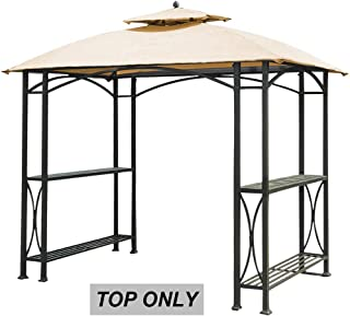 ABCCANOPY Gazebo Canopy Roof Top Replacement L-GG040PST-A Grill Gazebo Canopy (Beige)