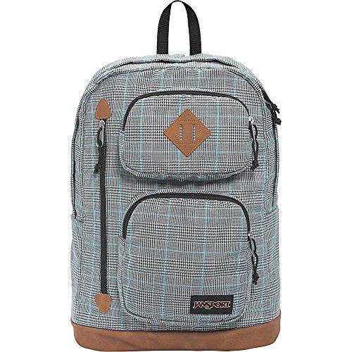 JanSport Houston Laptop Backpack- Sale Colors (Black/White Suited Plaid)