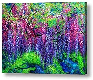 """The Wind Whispers Wisteria - 30""""H x 40""""W Canvas Print"""