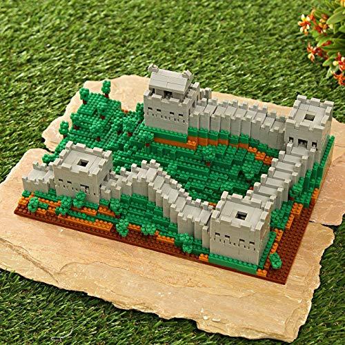 Modbrix Bloques de construcción de muro chino, arquitectura de construcción 1719 Nano bloques de construcción