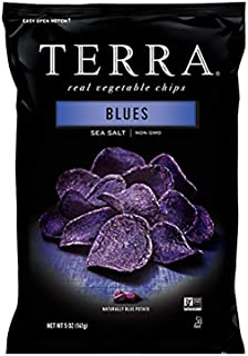 Terra Blues Vegetable Chips, Sea Salt, 5 Oz (Pack of 12)