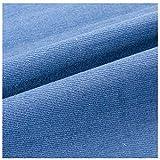 MAGFYLY Jeansstoff meterware Hellblau Denim-Stoff aus 100%