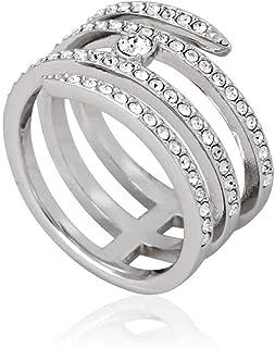 SWAROVSKI Creativity Coiled Silver-Tone Ring - Size 5