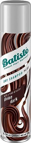 Batiste Dry Shampoo, Divine Dark Shampoo Secco per Capelli Scuri. 200 ml