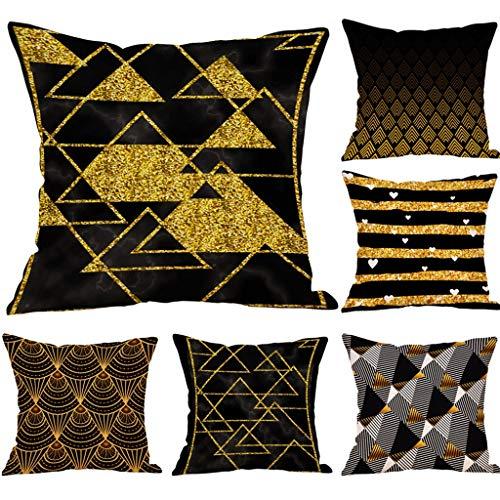 SIRIGOGO 2019 - Fundas de almohada decorativas geométricas para exteriores, de algodón, estilo europeo para sofá cama, sofá de 1818 pulgadas