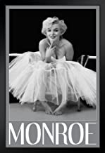 Pyramid America Marilyn Monroe Ballerina Hollywood Glamour Celebrity Actress Icon Photograph Photo Black Wood Framed Poster 14x20