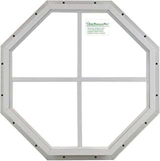 Shed Octagon Window White 14