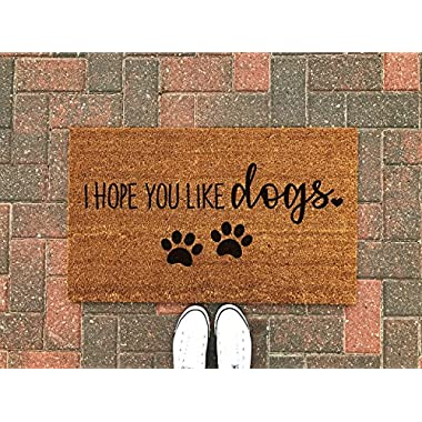 Hope You Like Dogs Doormat/Dog Doormat/Dog Gift/Dog Welcome Mat/Dog Decor/Cute Welcome Mat/Pet Gift/Outdoor Rug/Spring Decor