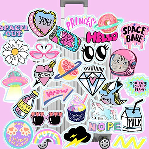29 Stks Pvc Waterdicht Meisje Roze Grappige Sticker Speelgoed Koffer Sticker Motorfiets Car Case Cool Fashion Laptop Sticker