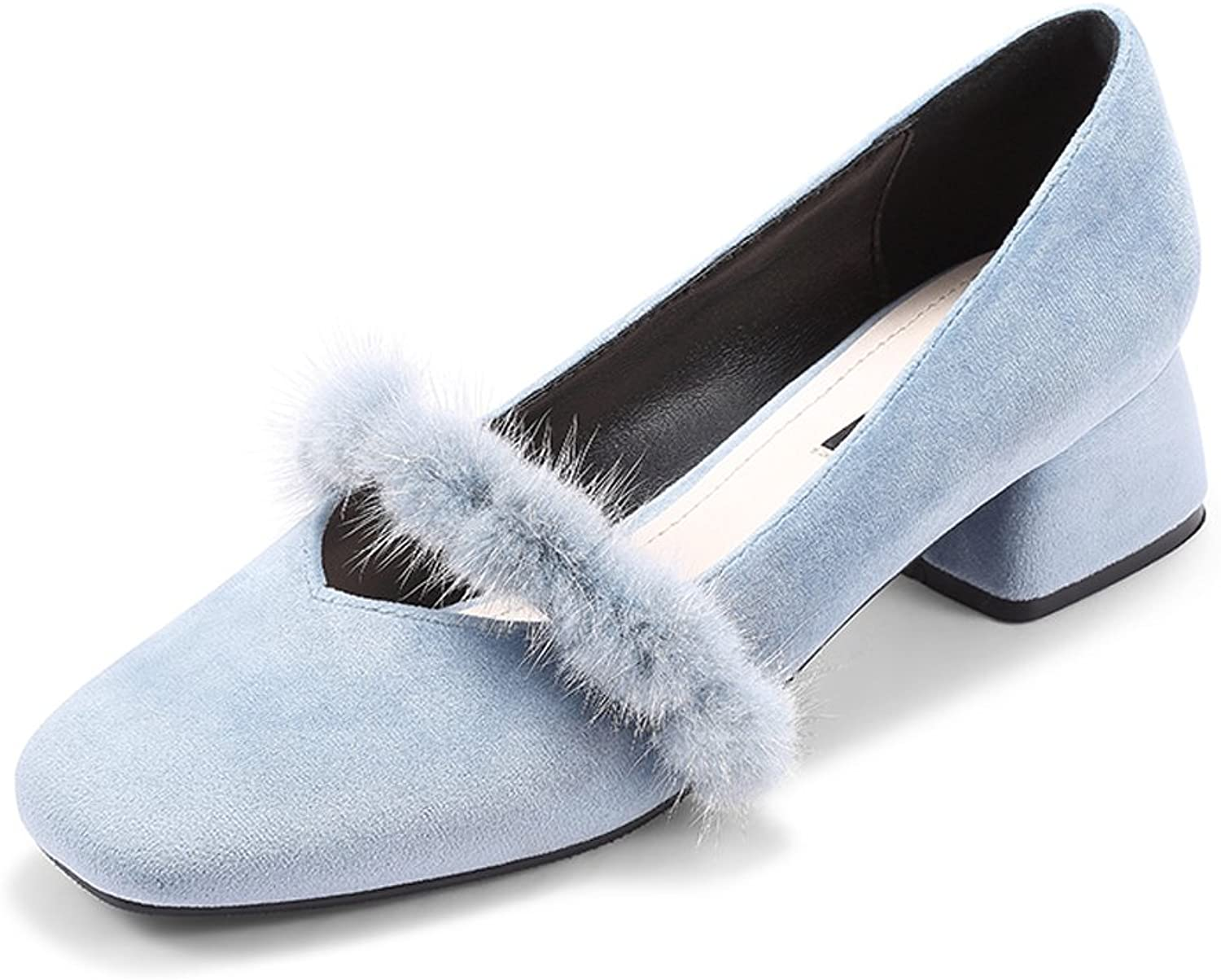 Women's High Heels Wild shoes with Thick shoes