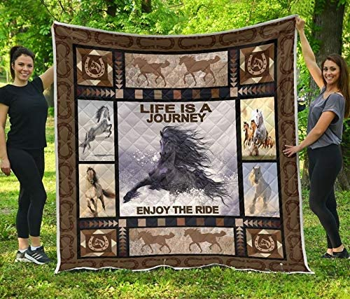 price DOAN Horse Life is A Journey Blanket Outlet SALE Suitable for Quilt - All