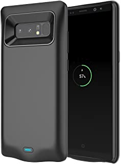 e86514cc62e Samsung Galaxy Note 8 Batería Funda, 5500mAh Recargable Portátil Batería  Backup Batería Cargador Paquete Externa