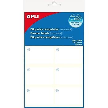 APLI 12058 - Pack de 60 etiquetas para congelador con 10 hojas ...