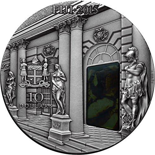 MCI-MINT Amber Room Katharinenpalast, 2015, 3oz Silber 0.999 mit Bernstein