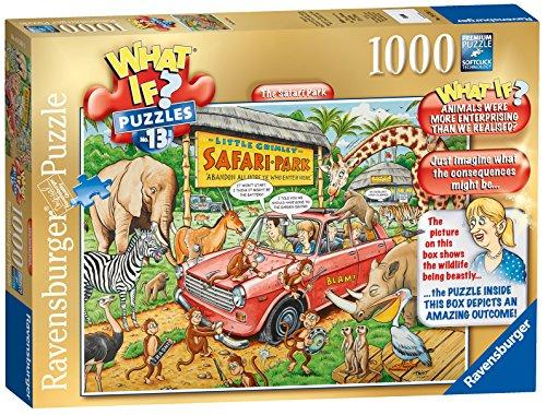 Ravensburger Was wenn? Nr. 13–Der Safari Park, Spielset Puzzle, 1000Einzelteile
