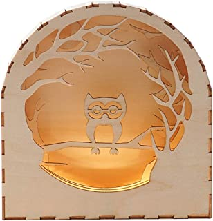 BEHEART Wooden Night Light, 3D Wooden Puzzles Set Christmas Birthday Gift for Kids Boys Adults (Owl)