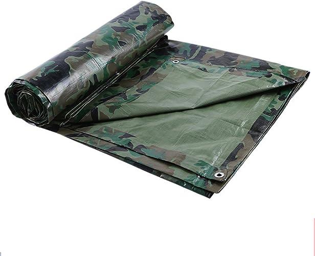 NANWU Tente extérieure bache Tente extérieure en Tissu PE Camouflage Pliable Double Face imperméable à l'eau Haute température résistant à la Corrosion