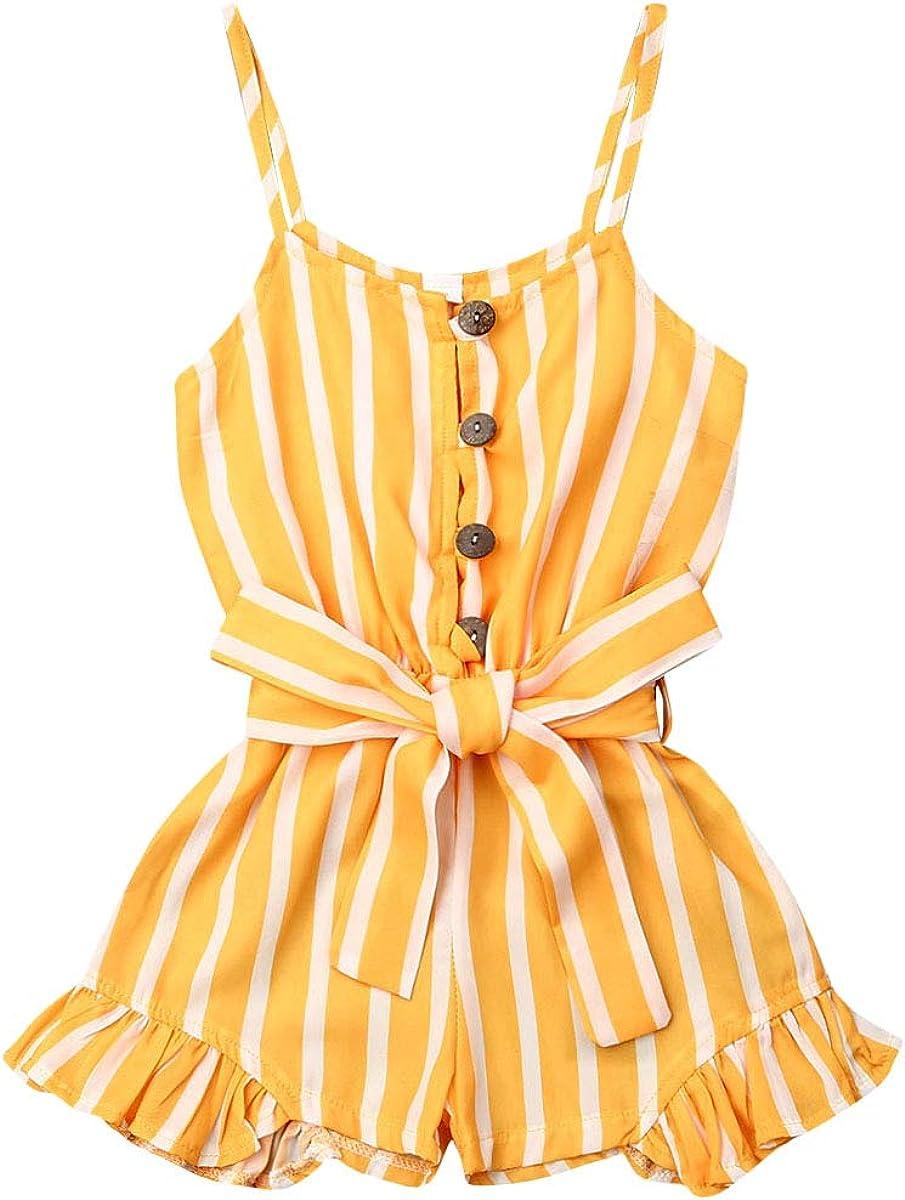 Toddler Kid Girl New Shipping Free Sleeveless Striped Piece St One Kansas City Mall RomperSpaghetti