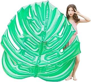 Bling Inflable Gigante de Hoja de Palma Piscina del Flotador, Flotante Partido Piscina de natación Playa Juguetes, Colchón Inflable Tumbona para Adultos