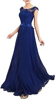 emmarcon Abito da Cerimonia Donna in Chiffon Damigella Vestito Lungo Elegante da Festa Party