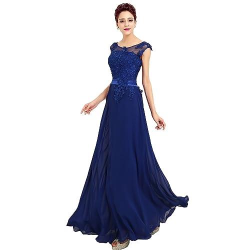 c7c676c26b36 emmarcon Abito da Cerimonia Donna in Chiffon Damigella Vestito Lungo  Elegante da Festa Party