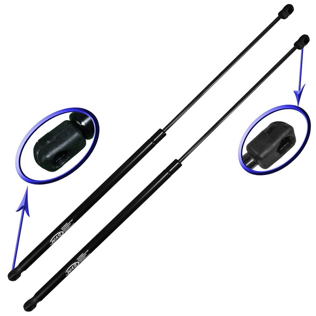 Two Rear Glass Gas Charged Back Window Lift Supports For 2007-2010 Jeep Wrangler With Factory Hardtop. Left and Right Side. WGS-359-2