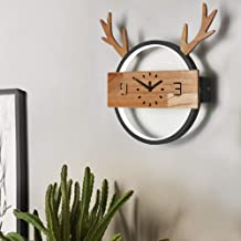 Wall Lamp - Nordic Fashion Personality Creative Wall Lamp, Modern Minimalist Style, Deer Clock Shape, Round Wrought Iron L...