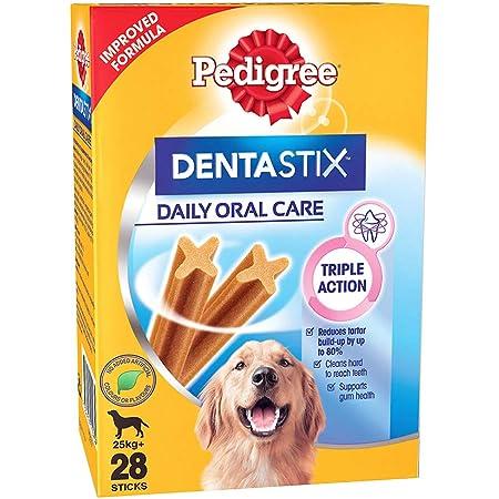Pedigree Dentastix Large Breed (25 kg+) Oral Care Dog Treat, 1.08kg Monthly Pack (28 Chew Sticks)