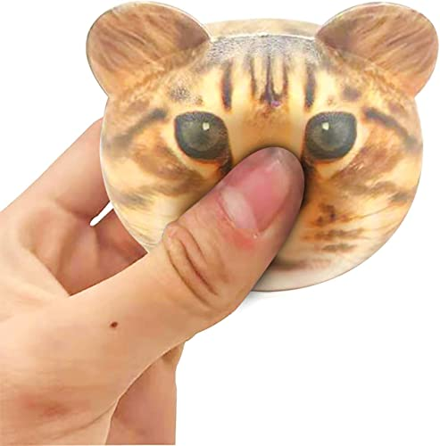 new arrival Fidget Toys Sensory Stress Relief Toys for Children Adults Teens Kids,Decompression popular Squeeze Rebound Anxiety Reliever Stress Toys Anti-Stress Calming Gift wholesale for Kids and Adults, 1 Pcs Cat Head Shape online sale