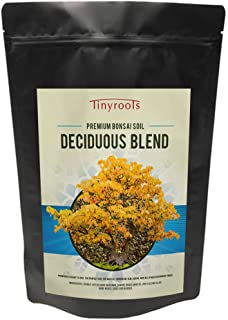 Deciduous Blend Bonsai Tree Soil - Two Quarts -Tinyroots-Brand  100% Organic  Topsoil Formulated For Japanese Maple Hornbean Elm Beech FRIT Mineral Additives Bring Superior Deciduous Bonsai Growth