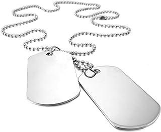 MunkiMix 2 Pieza Aleación Colgante Collar Ejército Militar