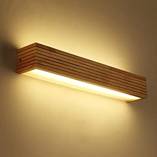 MX Light Fixture Wall lamp, Modern Bedroom Bedside Wooden Wall lamp Creative Rectangular lamp for Living Room Bathroom Bat...
