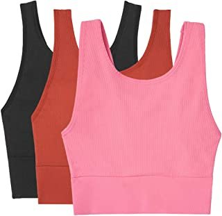JIDENG Women Seamless Sports Bra-Yoga Tank Tops